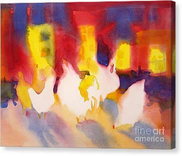Henhouse Serenade Canvas Print by Kathy Braud