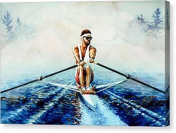 Henley On The Horizon Canvas Print by Hanne Lore Koehler