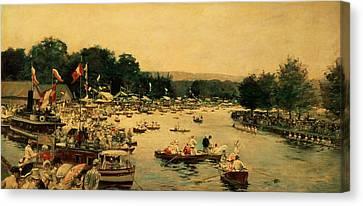 Henley Regatta Canvas Print by James Jacques Joseph Tissot