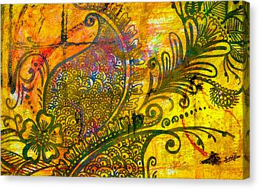 Henna-ish Canvas Print by Sowjanya Sreeram