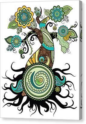 Henna Tree Of Life Canvas Print
