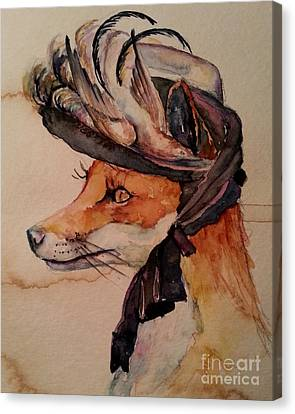 Canvas Print featuring the painting Henrietta Fox by Christy  Freeman