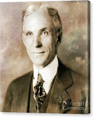 Thriller Canvas Print - Henry Ford By Mary Bassett by Mary Bassett