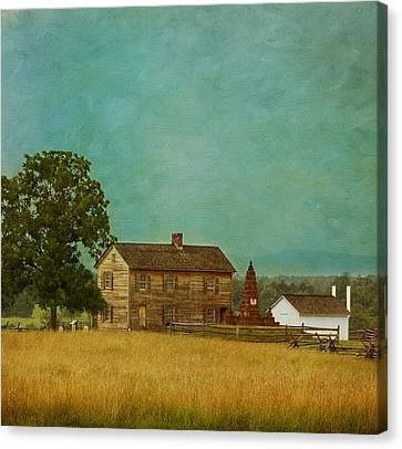 Henry House At Manassas Battlefield Park Canvas Print by Kim Hojnacki