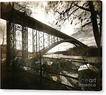 Canvas Print featuring the photograph Henry Hudson Bridge, 1936 by Cole Thompson