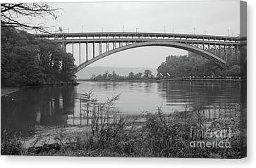Canvas Print featuring the photograph Henry Hudson Bridge  by Cole Thompson