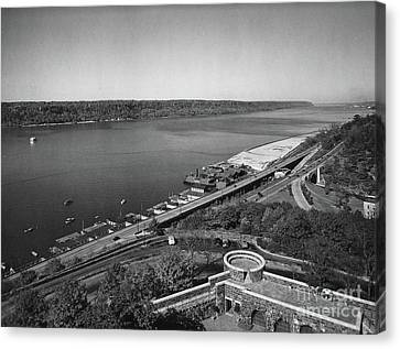Canvas Print featuring the photograph Henry Hudson Parkway, 1936 by Cole Thompson