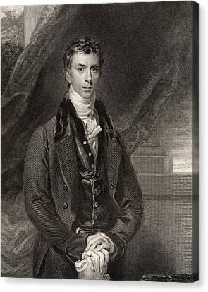 Henry Peter Brougham 1st Baron Brougham Canvas Print by Vintage Design Pics