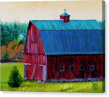 Henry Strong Barn Circa 1928 Canvas Print by Stacey Neumiller