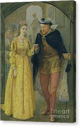 Henry Viii And Anne Boleyn  Canvas Print by Arthur Hopkins