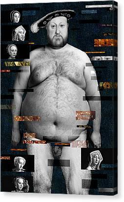 Henry Viii Nude Canvas Print by Karine Percheron-Daniels