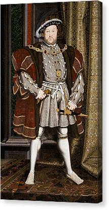 Henry Viii Of England Canvas Print by War Is Hell Store