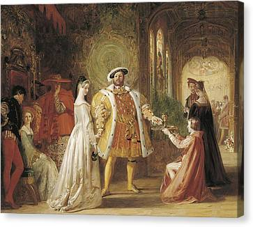 Henry Viiis First Interview With Anne Boleyn Canvas Print by Daniel Maclise