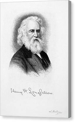 Henry Wadsworth Longfellow Canvas Print by Granger