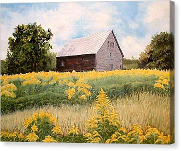 Maine Barns Canvas Print - Henry's Barn by Carole Rickards