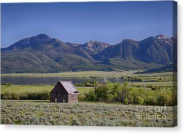 Henry's Lake Cabin Canvas Print by Idaho Scenic Images Linda Lantzy