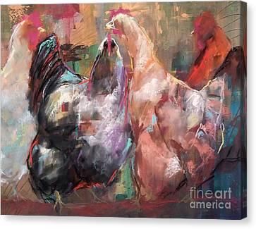 Hens Canvas Print