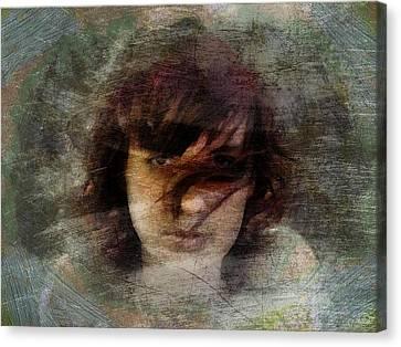 Canvas Print featuring the digital art Her Dark Story by Gun Legler