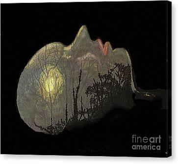 Her Dream Canvas Print by Merton Allen