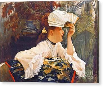 Her Fan 1875 Canvas Print by Padre Art