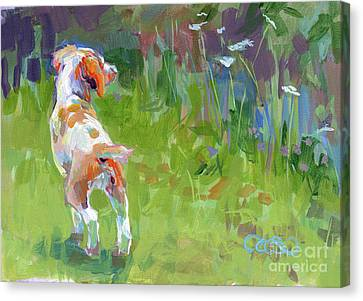 Commissions Canvas Print - Her First Point by Kimberly Santini