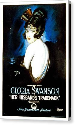 Her Husbands Trademark, Gloria Swanson Canvas Print by Everett