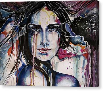 Canvas Print featuring the painting Her Sacrifice by Geni Gorani