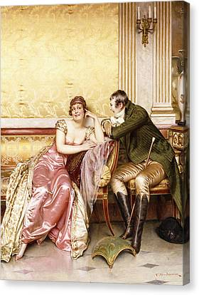 Her Suitor Canvas Print