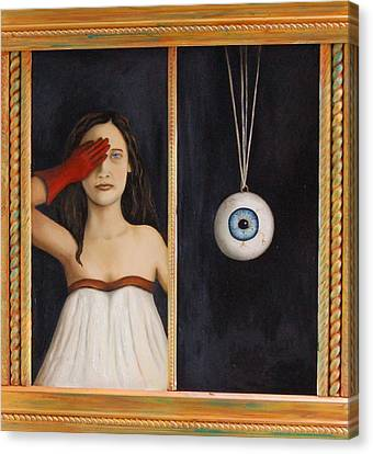 Her Wandering Eye Canvas Print by Leah Saulnier The Painting Maniac