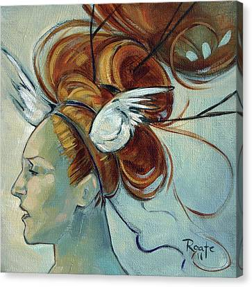 Woman Head Canvas Print - Hera by Jacque Hudson