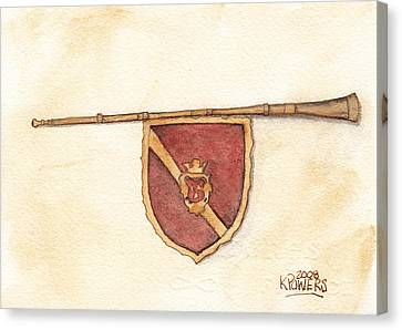 Heraldry Trumpet Canvas Print by Ken Powers