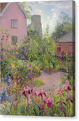 Herb Garden At Noon Canvas Print by Timothy Easton