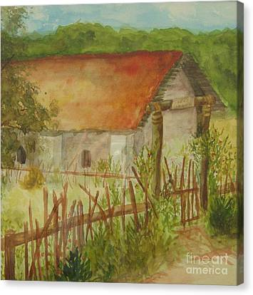 Canvas Print featuring the painting Herb Garden by Vicki  Housel