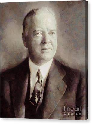 Herbert Hoover, President Of The United States By Sarah Kirk Canvas Print by Sarah Kirk