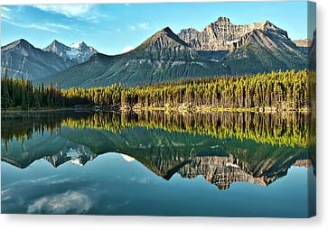 Herbert Lake - Quiet Morning Canvas Print by Jeff R Clow