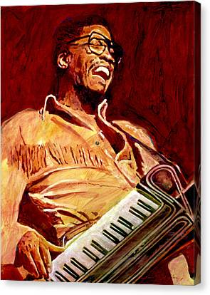 Herbie Hancock Rockit Canvas Print by David Lloyd Glover