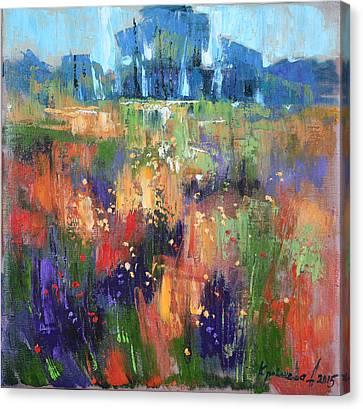 Canvas Print featuring the painting Herbs by Anastasija Kraineva