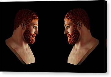 Canvas Print featuring the mixed media Hercules - Gingers by Shawn Dall