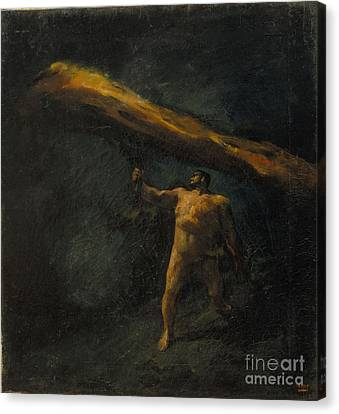 Hercules Searching For The Hesperides Canvas Print