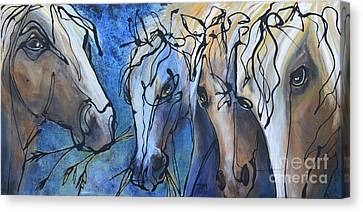 Herd Dynamics Canvas Print by Jonelle T McCoy