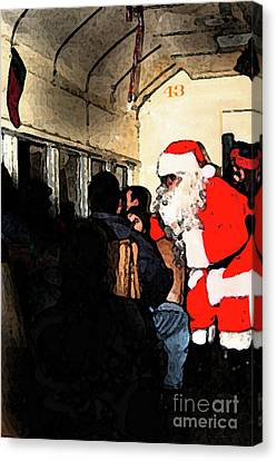 Canvas Print featuring the photograph Here Come Santa by Kim Henderson