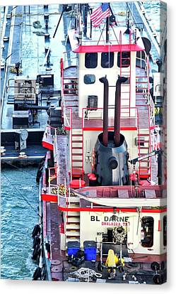 Here Comes The Diesel Fuel For The Ship Canvas Print