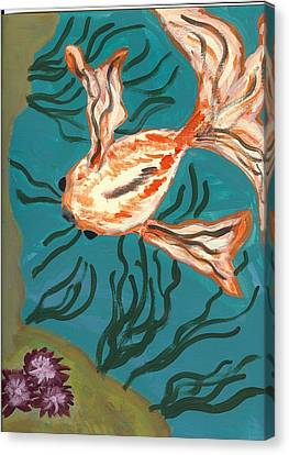 Here Fishy Fishy Canvas Print by Laura Lillo
