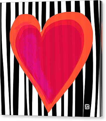 Canvas Print featuring the painting Here Is My Heart by Lisa Weedn