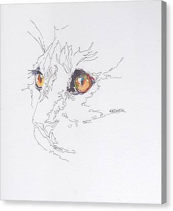 Here Kitty Kitty Canvas Print by Kimberly Santini