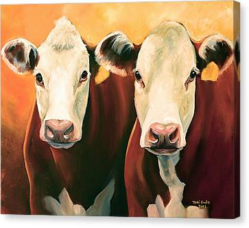 Hereford Canvas Print - Herefords by Toni Grote