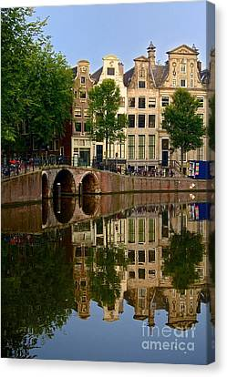 Reflecting Water Canvas Print - Herengracht Canal. Amsterdam. Netherlands. Europe by Bernard Jaubert
