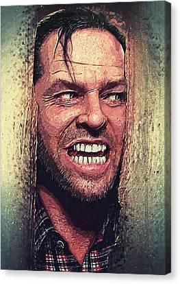 Kubrick Canvas Print - Here's Johnny - The Shining  by Taylan Apukovska