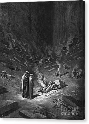 Creepy Canvas Print - Heresiarchs by Gustave Dore