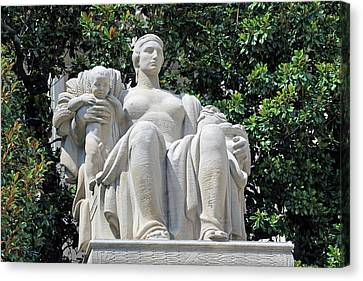 Heritage Statue -- The Heritage Of The Past Is The Seed That Brings Forth The Harvest Of The Future Canvas Print